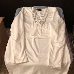 Other - White Crop and Long Skirt Set